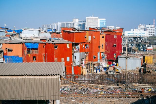 According to World Bank, India has the highest number of people living below the poverty line -- 224 million. (In picture) Dharavi, Mumbai is one of the largest slum settlements in the world.