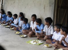 Children Eating at Nandhar