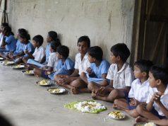 Children Eating at Nand ghar
