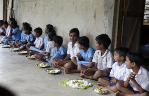 Children Eating at Nandhar