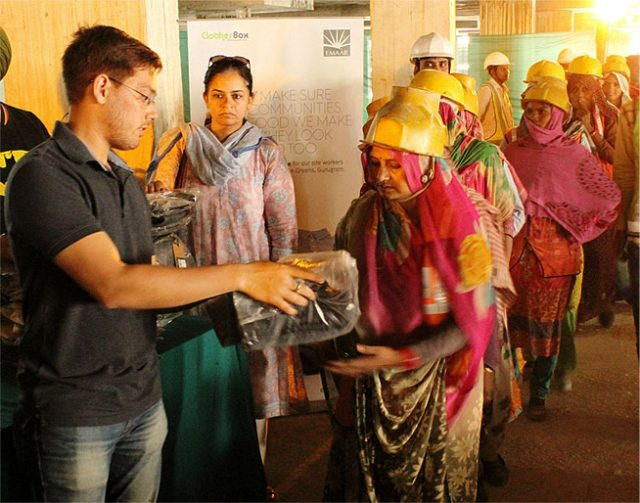Clothes Distribution Drive by Emaar India CSR