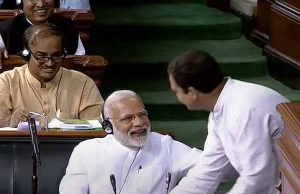 No Confidence Motion - Narendra Modi and Rahul Gandhi