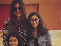 Sushmita Sen with her adoptive daughters