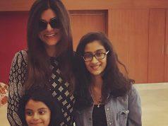 Sushmita Sen with her adoptive daughters