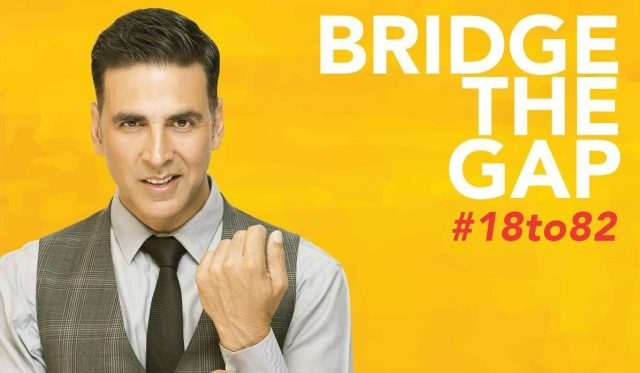 Akshay Kumar in support of the Niine Movement