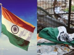 Disrespect of Indian Flag Post Independence