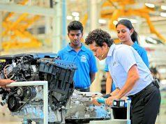 Sachin Tendulkar with Anna University Students at BMW Group Plant Chennai