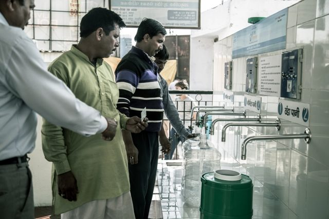 Users have to pay just 35 paise per litre of pure drinking water and just Rs 2 per litre for chilled water_Maruti Suzuki inaugurates Water ATM at Bas Hariya village, Manesar