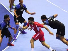 Indian handball team at Asian Games 2018
