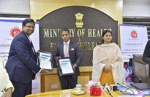 Burzis Taraporewala, Senior Adviser, Tata Trusts; Sarv Saravanan, Senior VP & GM, Dell EMC Centre of Excellence and Anupriya Patel, Minister of State for Health and Family Welfare