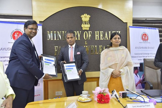 Burzis Taraporewala, Senior Adviser, Tata Trusts; Sarv Saravanan, Senior VP & GM, Dell EMC Centre of Excellence and Anupriya Patel, Minister of State for Health and Family Welfare