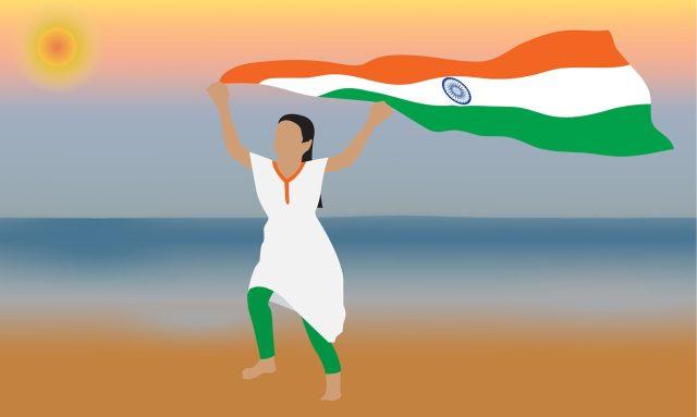 Teenage girls in India