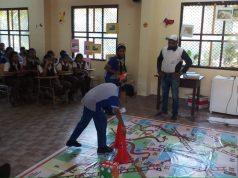 School kids learn road safety