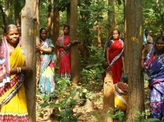 Protestors at sal forest in Balarampur