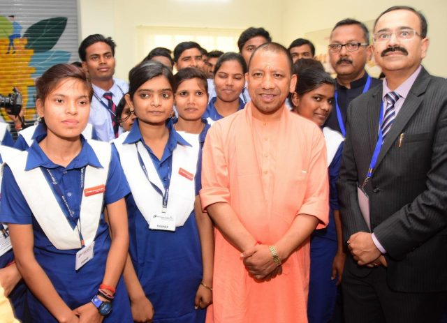 UP CM at launch of ICICI Academy of Skills
