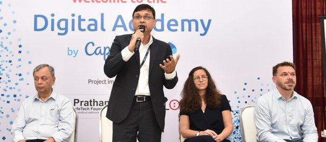 Ashwin Yardi - CEO of Capgemini India addressing media & students during launch of Digital Academy