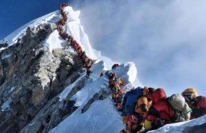 Traffic at Mt. Everest