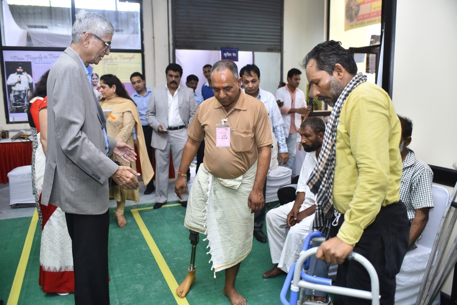 artificial limb fitment camp for persons with disabilities