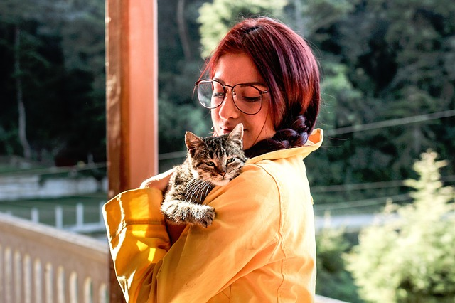 resolution 2020 - girl with a cat