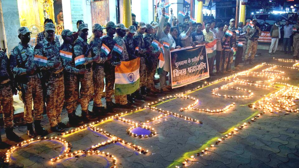 CRPF personnel salute Pulwama martyrs