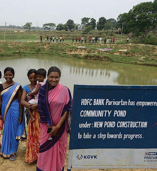 Community Pond constructed under HDFC Bank Parivartan