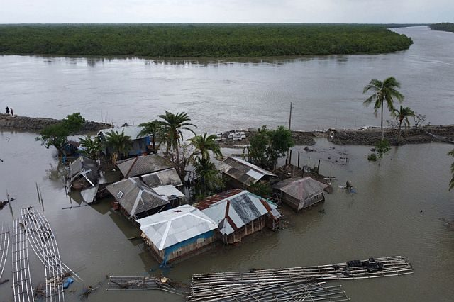 aftermath of Cyclone Amphan
