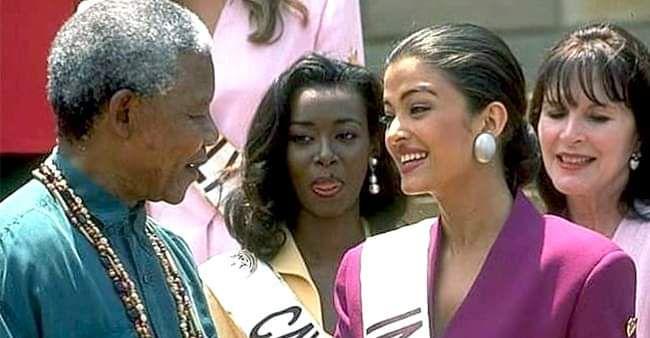 Mandela with Aishwarya Rai
