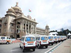 Ambulances donated by ZEE to the Karnataka Govt