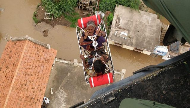 Indian navy flood response