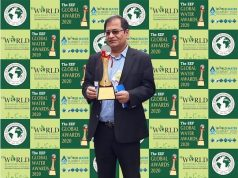 Mr Subodh Pandey, COO, Tata Steel BSL with the award