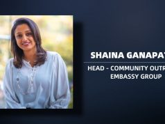 Shaina Ganapathy, Head - Community outreach, Embassy Group
