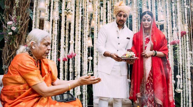 priestess at Dia's woke wedding