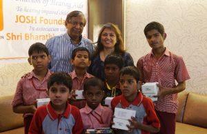 hearing-impaired children with Devangi Dalal