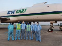 Blue Dart Crew at Shanghai Pudong International Airport (PVG)