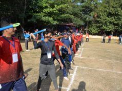 Students Learning Javelin Throw fromAmentum Coaches