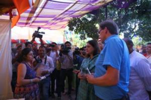 Maneka Sanjay Gandhi, Indian Union Cabinet Minister for Women & Child Development, at the Women of India Organic Festival