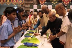 Pranab Mukherjee at Akshaypatra Foundation
