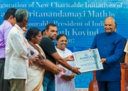 President Kovind launches Rs.100 crore Mata Amritanandamayi Math projectto provide clean drinking water to one crore villagers across India