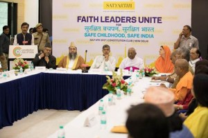 Religious leaders come together with Nobel Laureate Kailash Satyarthi to fight violence against children