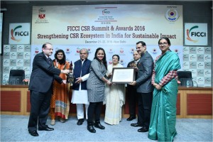 RBS Services India Pvt. Ltd won the FICCI CSR Award 2016 for 'Environment Sustainability