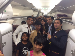 Vistara India invites children of Happy Feet Home from Mumbai for a joy ride
